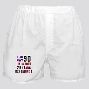 90 Birthday Designs Boxer Shorts