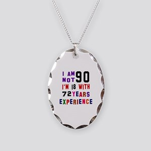 90 Birthday Designs Necklace Oval Charm