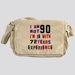90 Birthday Designs Messenger Bag