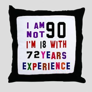 90 Birthday Designs Throw Pillow