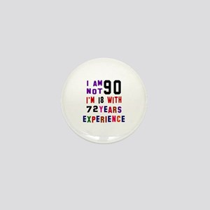 90 Birthday Designs Mini Button