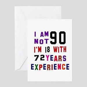 90 Birthday Designs Greeting Card