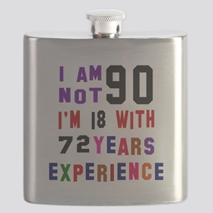 90 Birthday Designs Flask