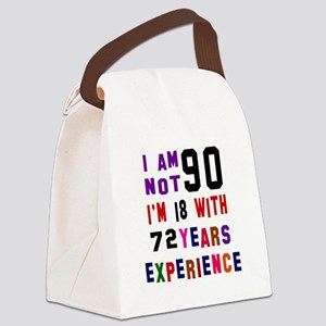 90 Birthday Designs Canvas Lunch Bag