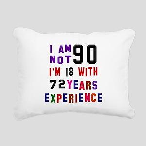 90 Birthday Designs Rectangular Canvas Pillow
