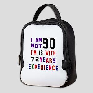 90 Birthday Designs Neoprene Lunch Bag