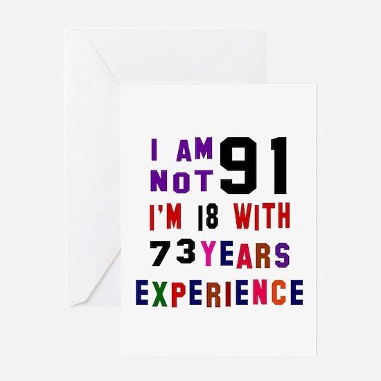 91 Birthday Designs Greeting Card