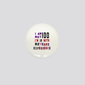 100 Birthday Designs Mini Button