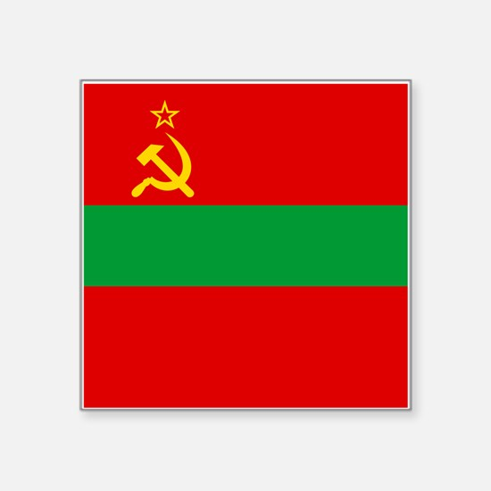 "Transnistria Flag Square Sticker 3"" x 3"""
