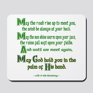 "Irish Blessing ""May the Road"" Mousepad"
