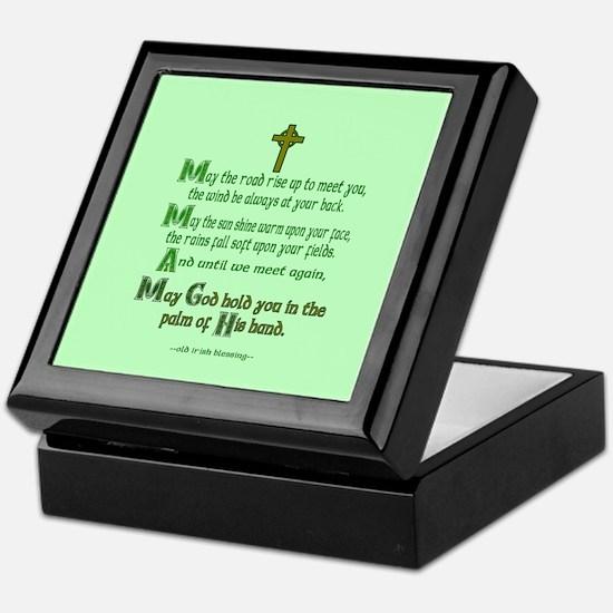 "Irish Blessing ""May the Road"" Keepsake Box"