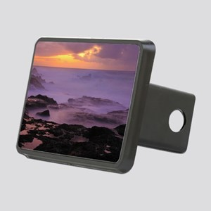 Seascape at sunset Rectangular Hitch Cover