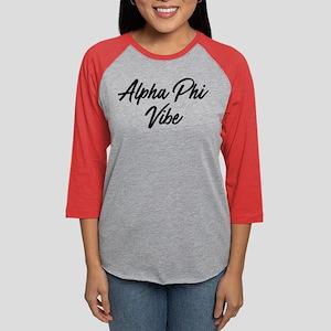 Alpha Phi Vibe Womens Baseball Tee