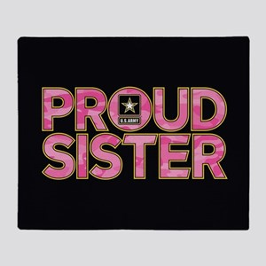 Proud Army Sister Throw Blanket