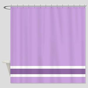 Purple Stripe Shower Curtain