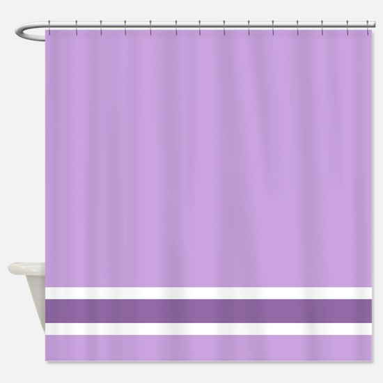 Purple Stripe Shower Curtain
