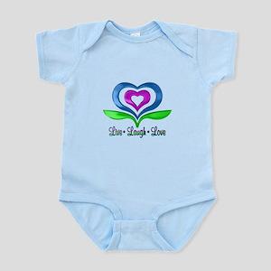 Live Laugh Love Hearts Infant Bodysuit