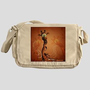 Funny giraffe Messenger Bag