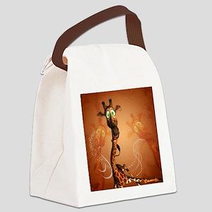 Funny giraffe Canvas Lunch Bag