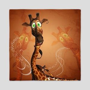 Funny giraffe Queen Duvet
