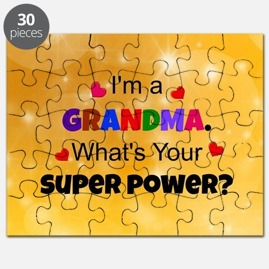 I'm a Grandma. What's Your Super Power? cus Puzzle