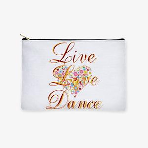 Live Love Dance Makeup Bag