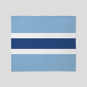 Blue Stripe Throw Blanket