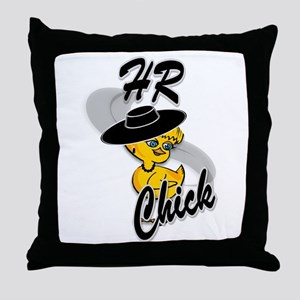 HR Chick #4 Throw Pillow