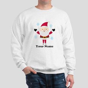 Personalized Santa Snowflake Sweatshirt