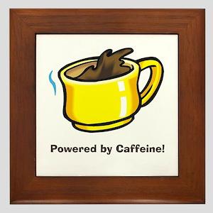 Powered by Caffeine Framed Tile