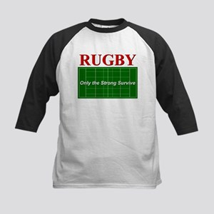 Rugby - Only the Strong Survi Kids Baseball Jersey