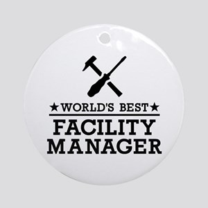 World's best Facility Manager Round Ornament