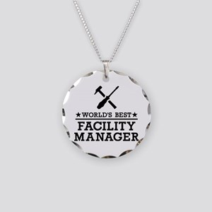 World's best Facility Manage Necklace Circle Charm