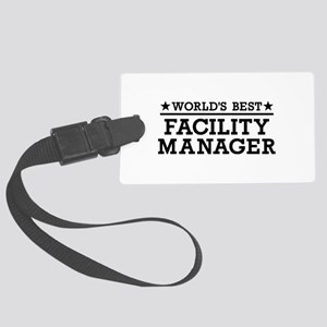 World's best Facility Manager Large Luggage Tag