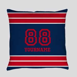 Red and Blue Bold Stripes Personal Everyday Pillow