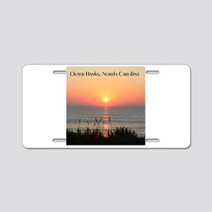Outer Banks Sunrise Aluminum License Plate