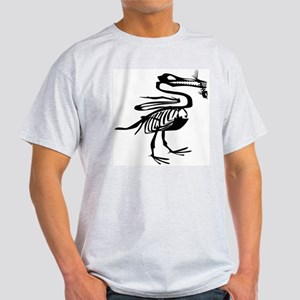 Dinosaur Eating Fish T-Shirt