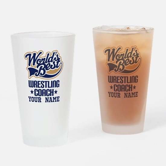 Wrestling Coach Custom Drinking Glass