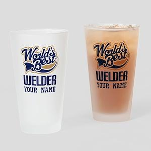 Worlds Best Welder gift Drinking Glass