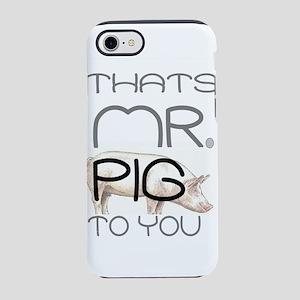 Mr Pig Cop Humor iPhone 8/7 Tough Case