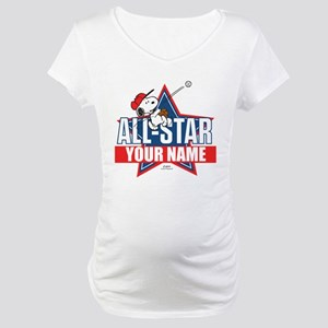 Snoopy All Star - Personalized Maternity T-Shirt