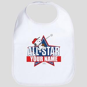 Snoopy All Star - Personalized Bib