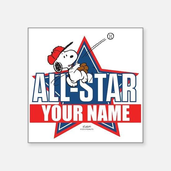 """Snoopy All Star - Personali Square Sticker 3"""" x 3"""""""