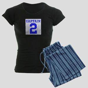 CAPTAIN #2 PINSTRIPES JETER Women's Dark Pajamas