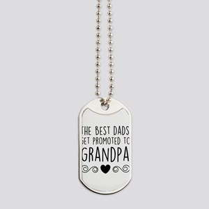 Promoted to Grandpa Dog Tags