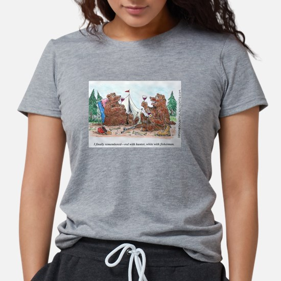 red with hunter wine toon.jpg T-Shirt