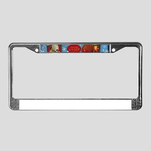 Santa's House License Plate Frame