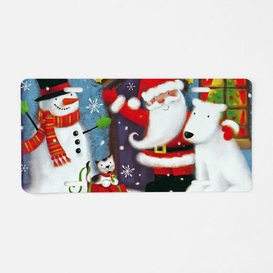 Santa's House Aluminum License Plate