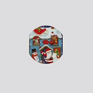 Santa's House Mini Button