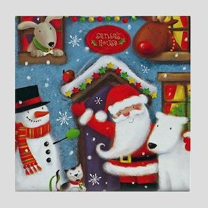 Santa's House Tile Coaster